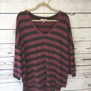 🌻American Outfitters stripe loose  top sz…